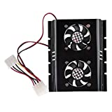 SODIAL(R) New Black 3.5 SATA IDE Hard Disk Drive HDD 2 Fan Cooler for PC