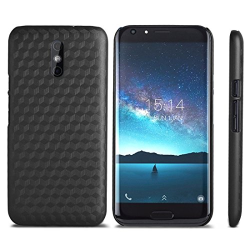 For cellphone Cases, OCUBE DOOGEE BL5000 (MPH1928) Metal Paint PC Protective Back Cover Case ( Color : Black )