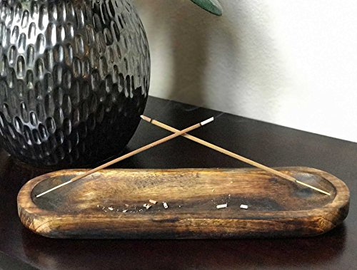 Kasa Style Trough Antique Wood Hand Made Double Incense Burner Ash Catcher by Kasa Style (Image #6)