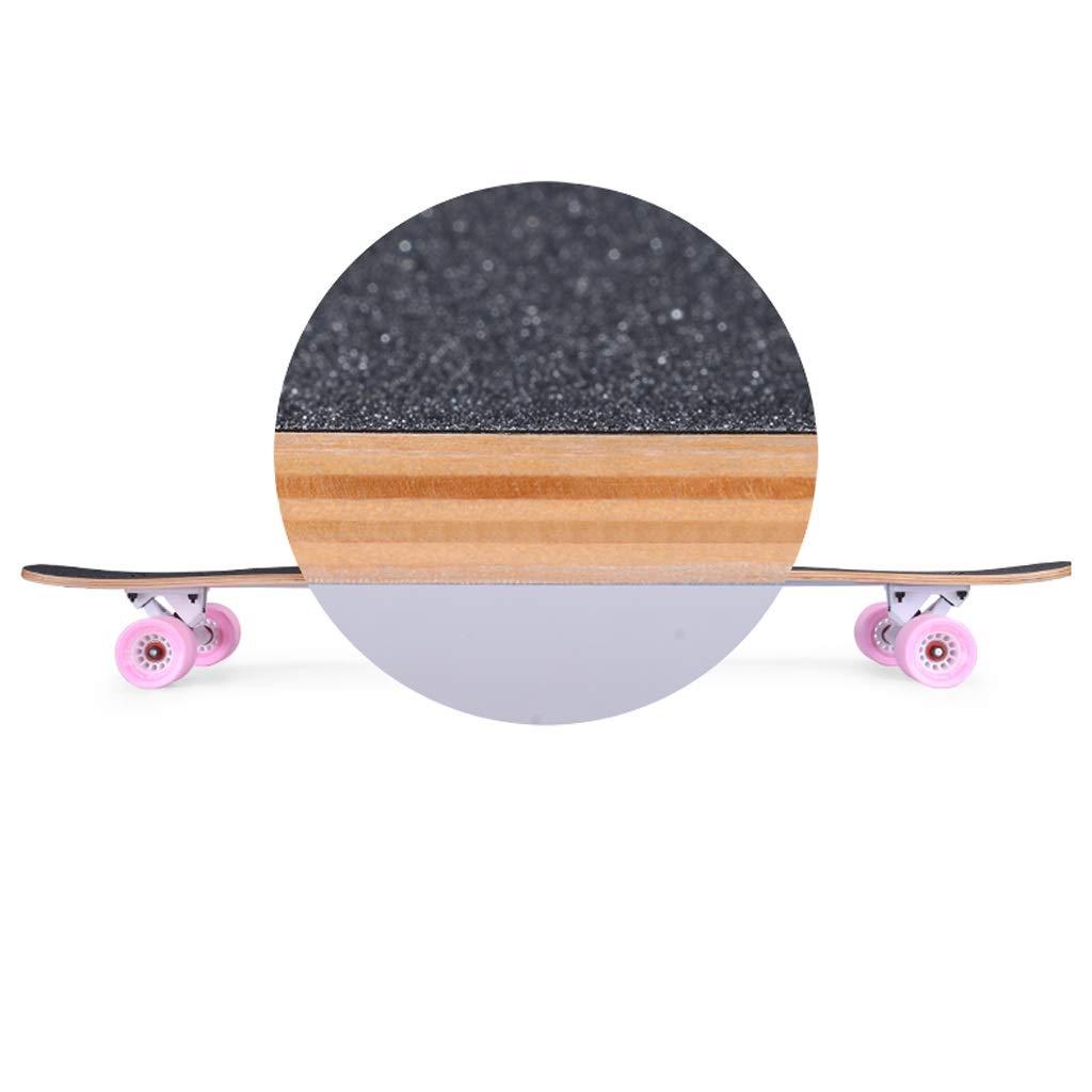 DUWEN-Skateboard-Ahorn-langes Brett-Anfänger-Erwachsener jugendlich Bürsten-Straßen-Jungen und Mädchen Mädchen Mädchen mit Vier Rädern Dance Board (Farbe   B) B07PLCQXR9 Skateboards Moderne Technologie 8da825