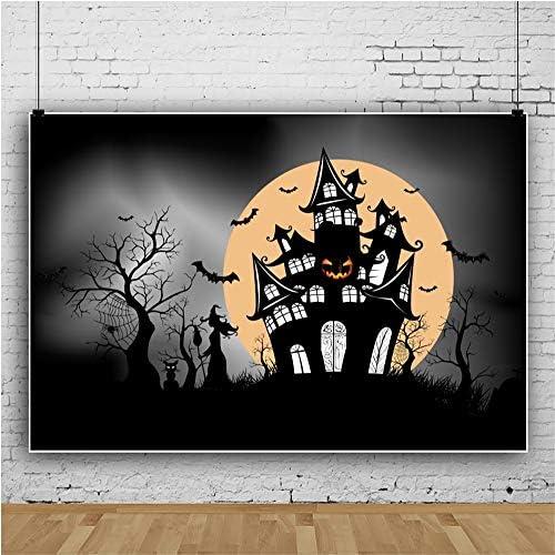 Yongfoto 2 7x1 8m Halloween Hintergrund Hexenschloss Kamera