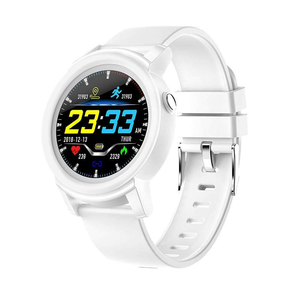 Smartwatch Bluetooth, TehCode Touch Screen Smart Watch Wristband with Heart Rate Monitor Bracelet Sleep Analysis Activity Tracker Steps Calories Counter Fitness Pedometer Watch for Men Women -White by TechCode