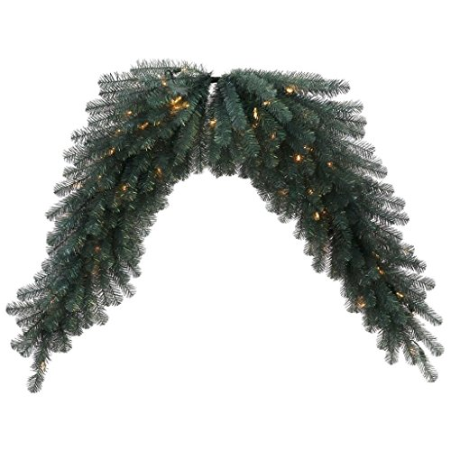 Vickerman 30976 - 6' Blue Crystal Swag Christmas Garland (N131811LED) by Vickerman