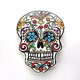 Mexican Dia De Los Muertos Day Of The Dead Wall Clock Floral Skull Modern Design Wall Clock Candy Sugar Skull Halloween Wall Watch Decor