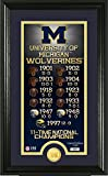 NCAA Michigan Wolverines Legacy Supreme Minted Coin Panoramic Photo Mint, 24'' x 16'' x 4'', Bronze