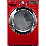 LG DLEX3370R 7.4 Cu. Ft. Wild Cherry Red Stackable With Steam Cycle Electric Dryer - Energy Star