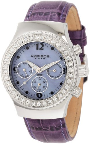 Akribos XXIV Women's AKR449PU Ultimate Swiss Chrono Purple ()