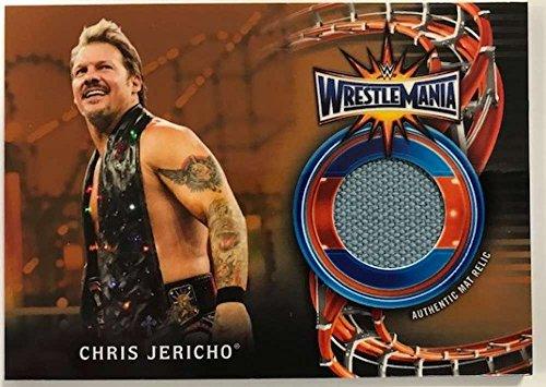 2018 Topps Road to WrestleMania WrestleMania 33 Mat Relics Bronze #WM-CJ Chris Jericho NM-MT MEM /99 from Road to WrestleMania