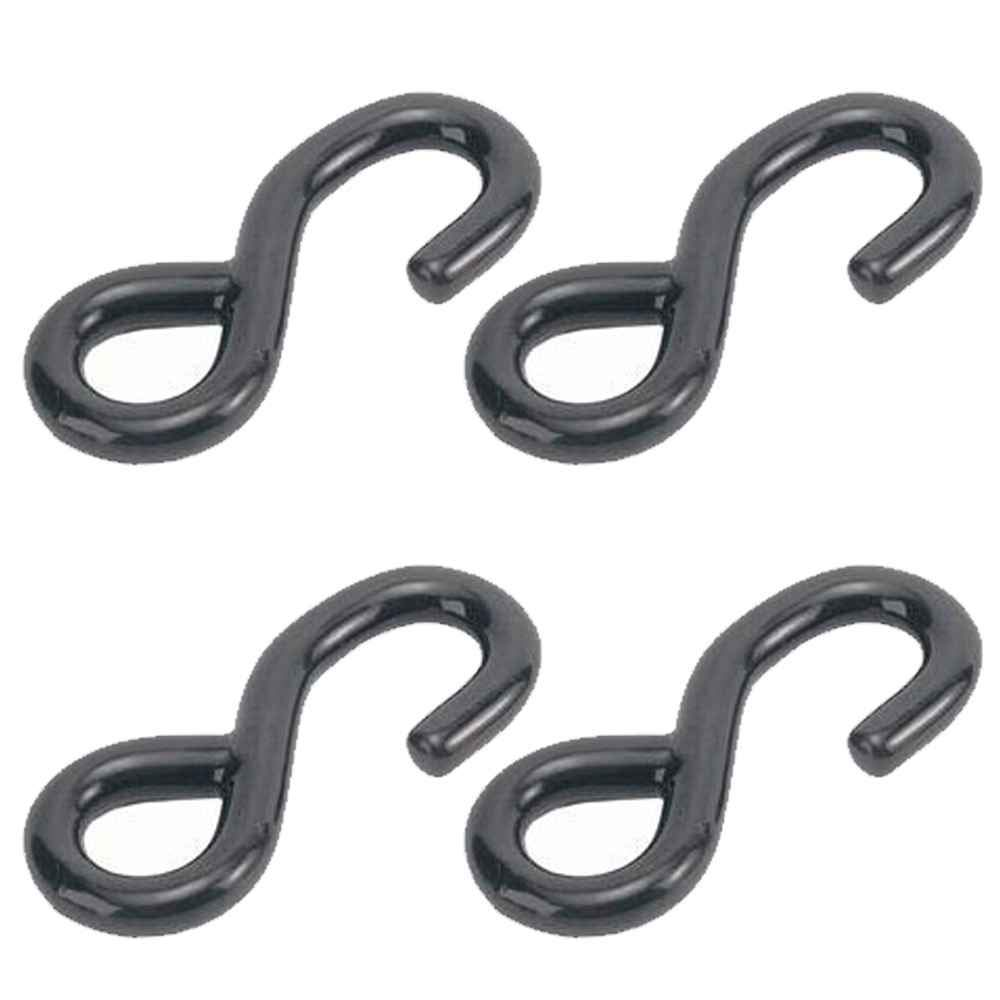 Vinyl Coated S-Hook - For use with 1'' Webbing - 4 Pack