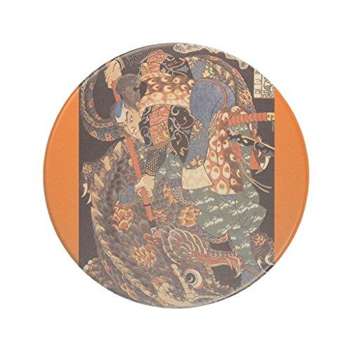 Zazzle Miyamoto Musashi Painting C. 1800's Sandstone Coaster