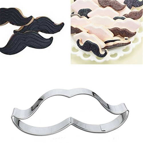 ArMordy£¨TM)1 pcs Moustache Lipstick Cupcake Lip Shape Metal Cookie Cutter Biscuit Cookie Mold Mousse Ring Mould ()