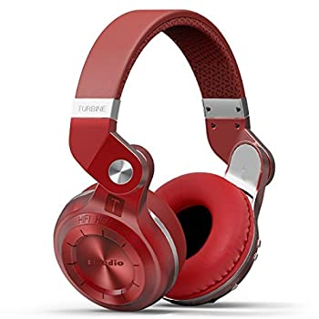 Bluedio T2 Plus Turbine Wireless Bluetooth Headphones With Micmicro Sd Card Slotfm Radio (Red) 2