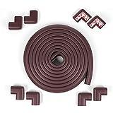 Edge & Corner Guards Safe Corner Cushion 20.4 ft(18ft Edge+8 Corners) Coffee Table Bumpers(Brown) …