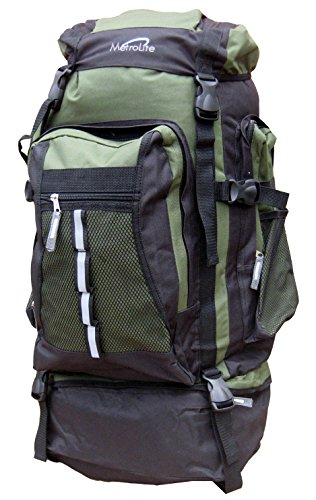Camping Bag Rucksack Hiking 80 Litre Green Backpack Adventure 80L Travel Green Large Festival RU1dq1