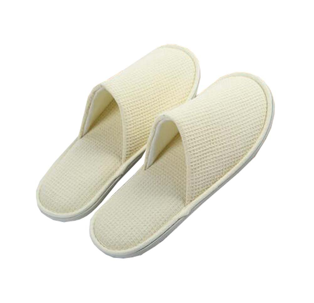 Black Temptation 5 Pairs of Unisex Fluffy Closed Toe Spa Slippers- Non-Slip- For Commercial Use, F