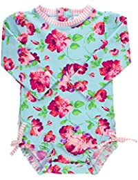 Baby/Toddler Girls UPF 50+ Sun Protection Long Sleeve One...