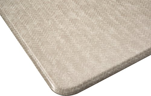 Imprint Cumulus9 Kitchen Mat Chevron Series  20 in. x 36 in. x 5/8 in. Goose