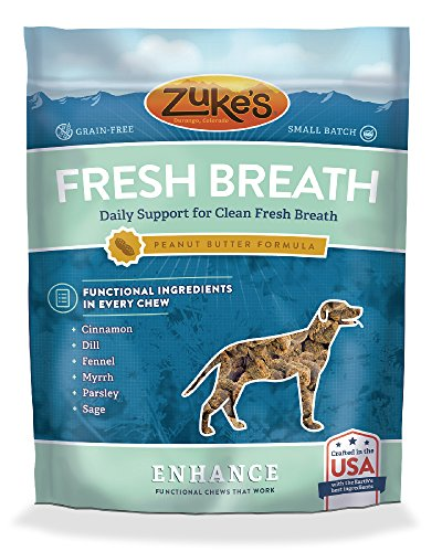 Fresh Breath Pouches (Zuke's Enhance Fresh Breath Peanut Butter Formula Functional Dog Chews - 5 oz. Pouch)