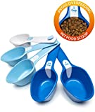 Petfactors Set of Five Pet Food Scoop, Plastic, Measuring Cups, for Dog, Cat and Bird Food