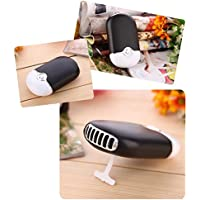 LOHOME® Portable USB Rechargeable Mini Bladeless Handheld Air Conditioning Fan (Black)