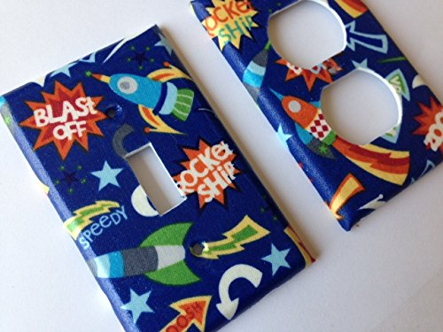 Rocket Ship Light Switch Cover - Various Sizes Offered