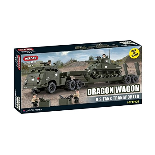 Oxford Block Brick for Mania Line Assembly, Dragon Wagon U.S Tank Transporter (Dragon Block)