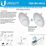 Ubiquiti PBE-M5-300 (2-Pack)PowerBeam M5 22dBi AIRMAX Bridge 300mm Outdoor 5GHz