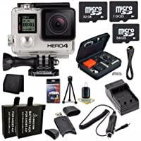 GoPro HERO4 Black Edition 4K Action Camera Camcorder 112GB Bundle 8