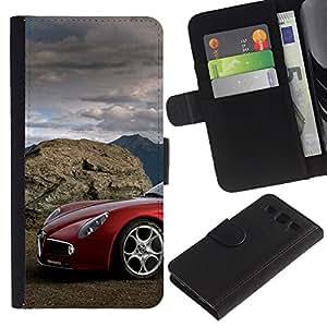 Stuss Case / Funda Carcasa PU de Cuero - Alfa italiano de coches - Samsung Galaxy S3 III I9300