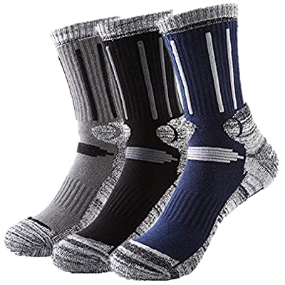Huathy Women Men's Outdoor Skiing Climbing High Terry Socks Full Cushion General Athletic