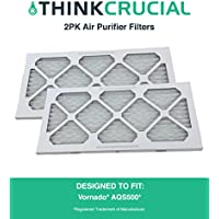 2PK Compatible Think Crucial Replacement Filters Fit Vornado Air Purifier Filter For Model AQS500