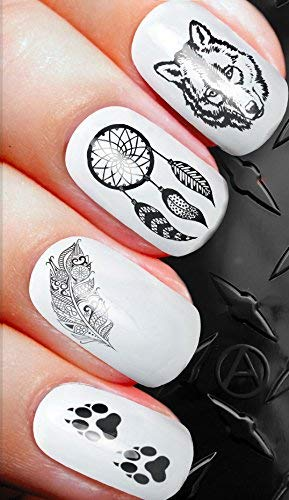 native tribal fantasy wolf decals alterNAILtive transfers D88 - nail art ()