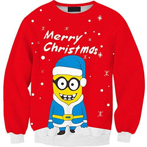 Women's Minions Digital Print Pullover Sweatshirt