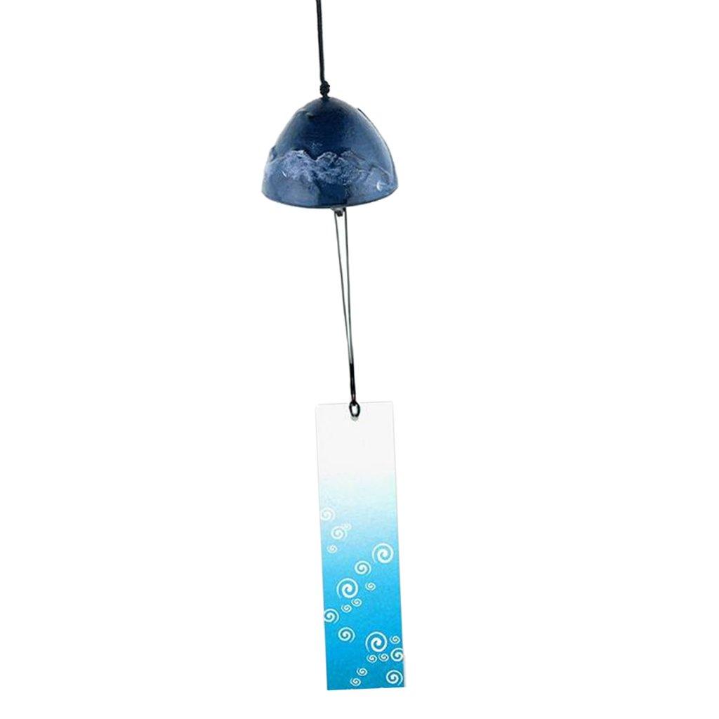 petsola Temple Bell Japanese Wind Chime Hang Sound Clapper Home Garden Decor como se describe 1