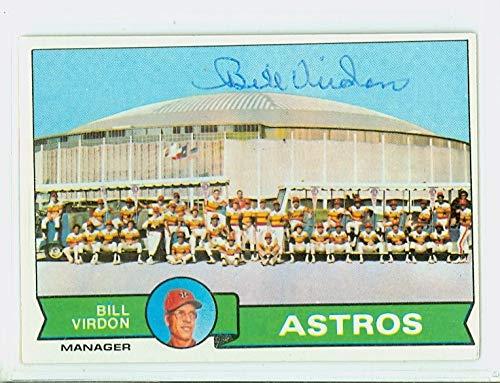 Bill Virdon AUTOGRAPH 1979 Topps Houston Astros Team #381