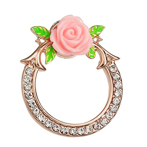 new PANGRUI Crystal Bouquet Flower Branches Magnetic Eyeglass Holder Magnet Pin Brooch for cheap