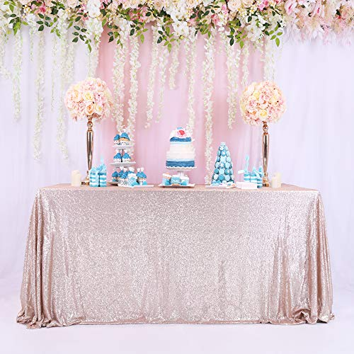 8FT Rectangle Champagne Sequin Table Champagne Sequin Table Cloth Champagne SequinTable Linens Sparkly Champagne Christmas Bling Christmas Table - Christmas Bling