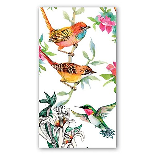 (Michel Design Works NAPH296 15-Count 3-Ply Paper Hostess Napkins, Bird Song)