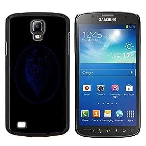LECELL--Funda protectora / Cubierta / Piel For Samsung Galaxy S4 Active i9295 -- León Caballero Azul --