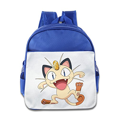 Star Wars Costumes Nyc (MoMo Unisex Team Rocket Meowth Boy Girl School Bag For Little Kids)