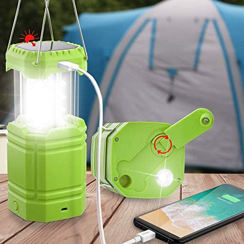 LED Portable Rechargeable USB Lantern Tent Lamp Ultra Bright Camping Flash Solar