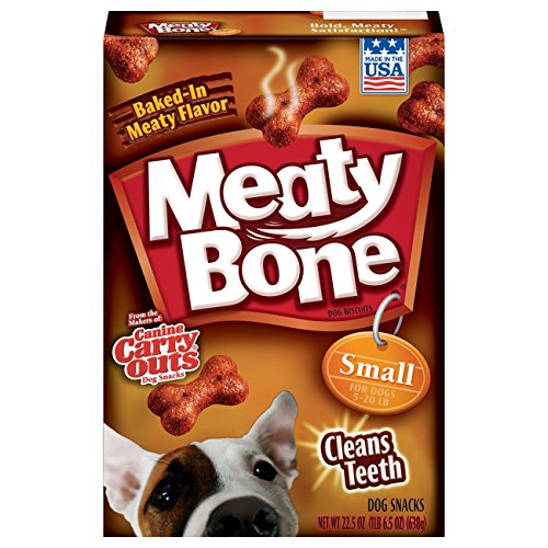 Meaty Bone Small Dog Snacks, 22.5-Ounce Pack Of 6