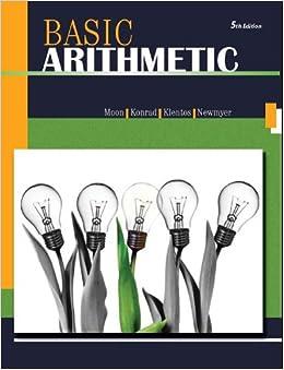 Basic Arithmetic 5/e: Robert Moon: 9781602298798: Amazon.com: Books