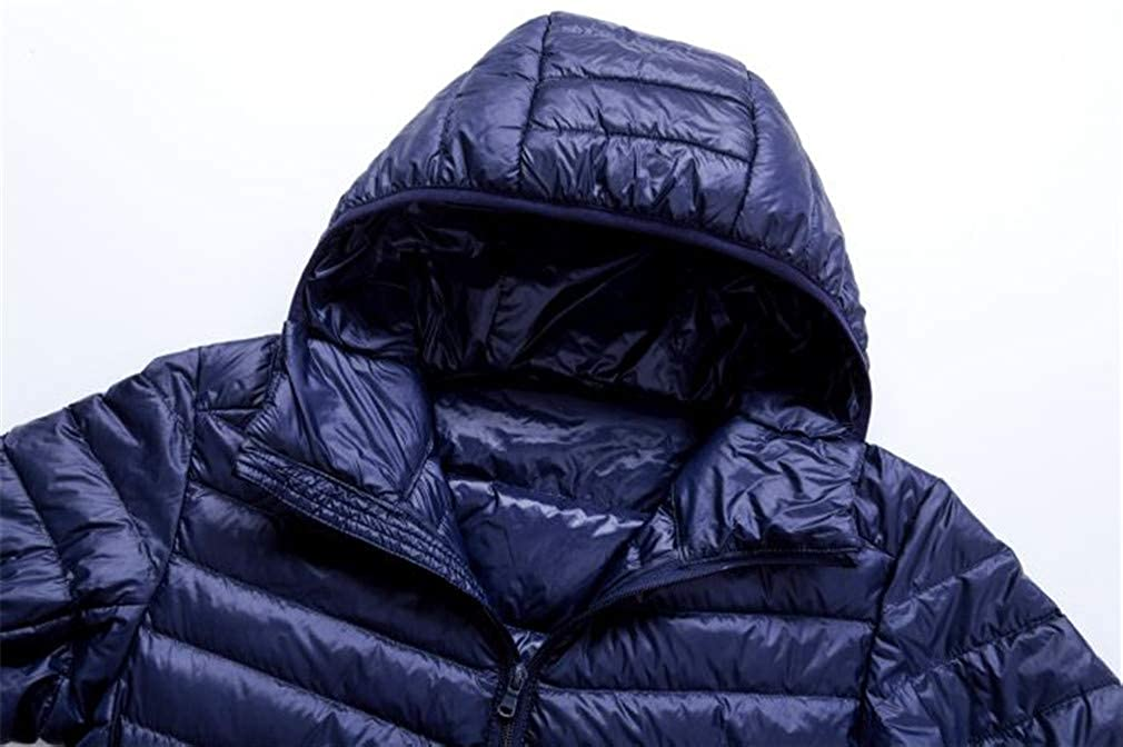 EQKWJ Duck Down Jacket Male Ultralight Hooded Coat Mens Down Coats Outwear at Amazon Mens Clothing store: