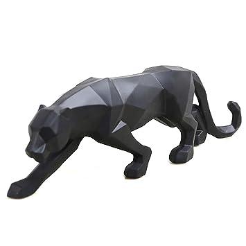 Blanc Noir Panthère Sculpture Ornements Sculpture Géométrique