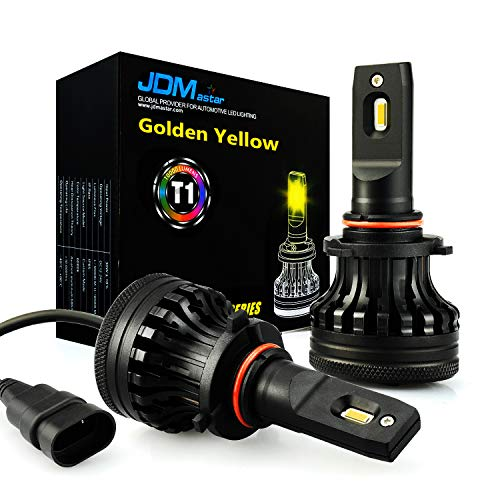 (JDM ASTAR Gold Yellow T1 10000 Lumens Extremely Bright High Power 9005 All-in-One LED Headlight Bulbs Conversion Kit)