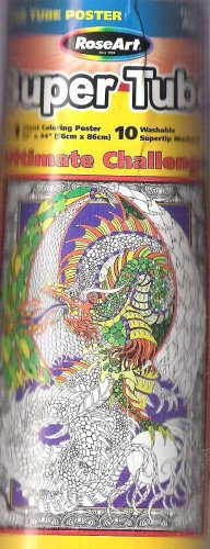 Amazon.com: Mystical Dragon Super Tube Coloring Poster: Toys & Games