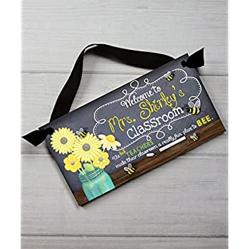 teacher chalkboard classroom best teachers quotation saying door sign teacher end of year christmas present gift tds018