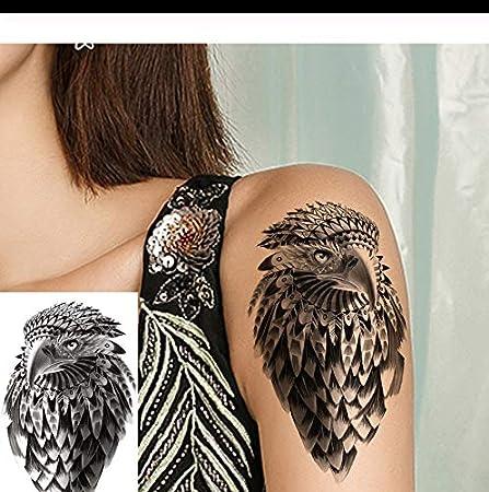 LFVGUIOP Águila Negra Pegatinas Tatuaje Chica Arte Corporal Brazo ...
