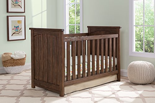 Serta Northbrook 3-in-1 Convertible Crib, Rustic Oak - Oak Baby Cribs